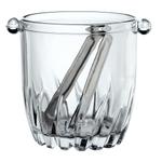 Bormioli Rocco Moncayo Glass 32 Ounce Ice Bucket with Tongs