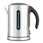 Breville The Soft Top Brushed Stainless Steel 1.7 Liter Cordless Electric Kettle with Towels