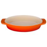 Le Creuset Flame Stoneware Oval Baking Dish, 1 Quart