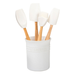 Le Creuset Craft Series White 5-Piece Utensil and Crock Set