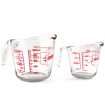 Anchor Hocking 2 Piece Glass Measuring Cup Set