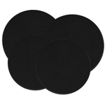 Range Kleen Solid Black Stove Top Burner Cover, Set of 4