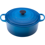 Le Creuset Signature Marsielle Blue Enameled Cast Iron Round French Oven, 9 Quart