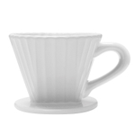 Chantal Craft Coffee White Ceramic 8 Ounce Lotus Pour Over Filter