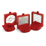 Norpro White and Red Plastic and Stainless Steel 4 Piece Deluxe Cutter and Wedger Set