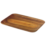 Pacific Merchants Acaciaware 10.5 x 7.25 Inch Rectangular Tray