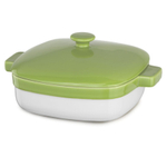 KitchenAid KBLR42CRYL Key Lime Ceramic 4.2-Quart Casserole Dish with Lid