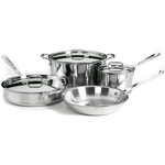All-Clad Copper-Core 18/10 Stainless Steel 7 Piece Cookware Set