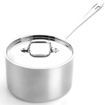 All-Clad D5 Brushed 18/10 Stainless Steel Saucepan with Lid, 4 Quart