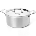 All-Clad D5 Brushed 18/10 Stainless Steel Stock Pot with Lid, 8 Quart
