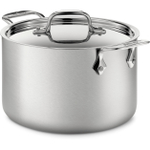 All-Clad Brushed D5 Stainless Steel Soup Pot with Ladle, 4 Quart