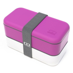 Monbento MB Original V Fuchsia and White Bento Box