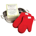 All-Clad 18/10 Stainless Steel Lasagna Pan with 2 Oven Mitts and Cookbook - 830