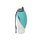 Totally Pooched Blue Tritan Travel Water Bottle with Fold Up Bowl