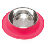 Messy Mutts Watermelon Red Silicone Extra Large Single Feeder with Stainless Steel Bowl