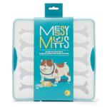 Messy Mutts Blue Silicone 15 Large Bone Bake and Freeze Bone Shaped Treat Maker