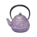 Joyce Chen Purple Cast Iron Tamagogato Flower Tetsubin Teapot, 19 Ounce