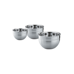 Rosle Stainless Steel 3 Piece Mixing and Prep Bowl Set