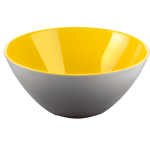Guzzini My Fusion Grey and Yellow 1.2 Quart Bowl