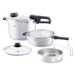 Fissler Vitavit Premium Stainless Steel 6 Piece Pressure Cooker and Skillet Set