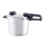 Fissler Vitavit Premium Stainless Steel 6.4 Quart Pressure Cooker with Steamer Insert