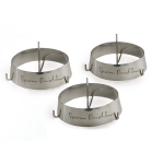 Steven Raichlen Stainless Steel Grill Rings with Spikes, Set of 3