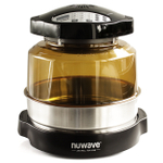 NuWave Oven Pro Plus with Extender Ring & Precision Induction Cooktop Gold with Ceramic Fry Pan