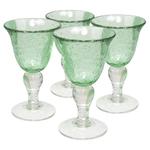 Artland Iris Light Green 8 Ounce Wine Glass