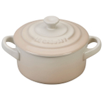 Le Creuset Meringue Stoneware 8 Ounce Mini Round Cocotte