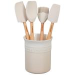 Le Creuset Craft Series Meringue 5-Piece Utensil and Crock Set