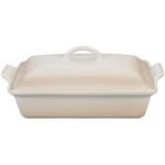 Le Creuset Heritage Meringue Stoneware Covered 4 Quart Rectangular Casserole Dish