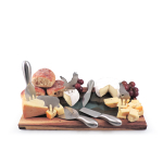 Swissmar Cheese Lovers Set with Serving Board Cheese Picks and Knife Set