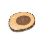 Lipper Acacia Tree Bark 10 Inch Footed Server