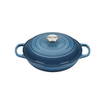 Le Creuset Signature Marine Covered Brasier with Stainless Steel Knob