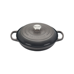 Le Creuset Signature Oyster Covered Brasier with Stainless Steel Knob