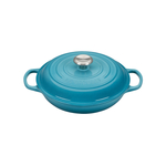 Le Creuset Signature Caribbean Covered Brasier with Stainless Steel Knob