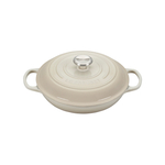 Le Creuset Signature Meringue Covered Brasier with Stainless Steel Knob