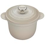 Le Creuset Meringue Cast Iron 2.25 Quart Rice Pot with Stainless Steel Knob & Insert
