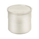 Le Creuset Metallic Meringue Enameled Stoneware 1.5 Quart Canister with Lid