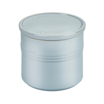 Le Creuset Metallic Coastal Blue Enameled Stoneware 1.5 Quart Canister with Lid
