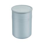 Le Creuset Metallic Coastal Blue Enameled Stoneware 2.5 Quart Canister with Lid