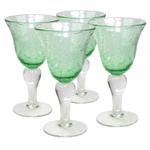 Artland Iris Light Green Glass 14 Ounce Goblet
