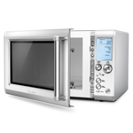 Breville Stainless Steel Quick Touch Microwave Oven with Silicone Collapsible Food Cover