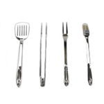 All-Clad Stainless Steel 4 Piece Barbecue Tool Set