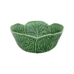 Bordallo Pinheiro Green Earthenware Tall Cabbage Salad Bowl