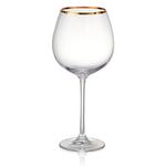 Artland  Gold Band 24 Ounce Burgundy Wine Glass