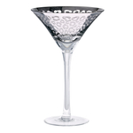 Artland Leopard Silver 8 Ounce Martini Glass