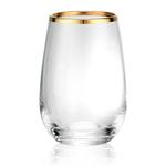 Artland Gold Band 15 Ounce Stemless Wine Glass
