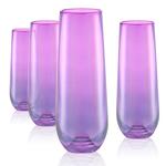 Artland Luster Purple 10 Ounce Stemless Flute