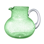 Artland Iris Light Green Bubble Glass Pitcher, 90 Ounce